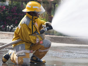sun safety employees firefighter